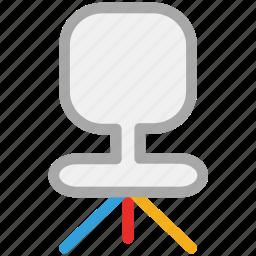 chair, furniture, office chair, revolving chair icon