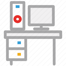 computer, desktop, pc, personal computer icon