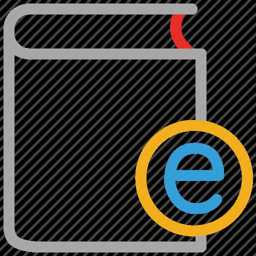 book, e sign, education, study icon