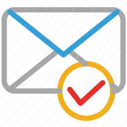 check mark, email message, envelope, mail message icon