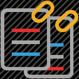 attached files, attachment, clip files, documents icon