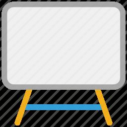 black board, chalk board, easel, white board icon