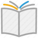 book, book backside, education, open book icon