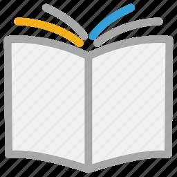 book, book backside, education, open book icon