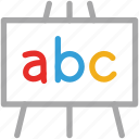 abc, alphabetical letters, education, school icon