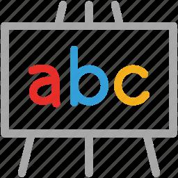 abc, alphabetical letters, education, school icon