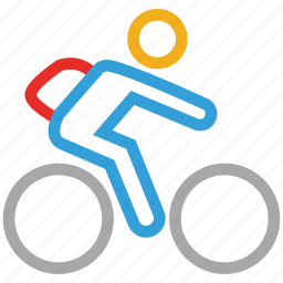 bicycle, cycle, cycling, cyclist icon