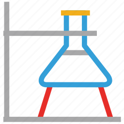 beaker, experiment, flask, lab test icon