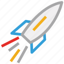 rocket, space, space rocket, spaceship icon