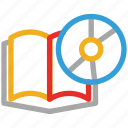 book, cd, cd with book, educational cd icon