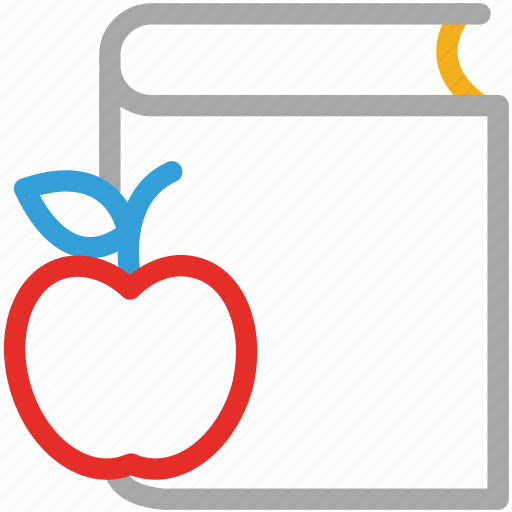 apple, book, break, lunch break icon