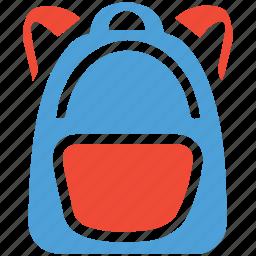 bag, school bag, shoulder bag, student bag icon