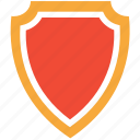 protection shield, security badge, shield, shield shape icon