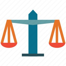 balance scale, justice scale, scale, weight balance icon