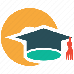 cd, degree, graduation hat icon