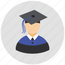 diploma, education, graduate, graduate cap, student icon