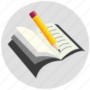 article, book, paragraph, report, writings icon