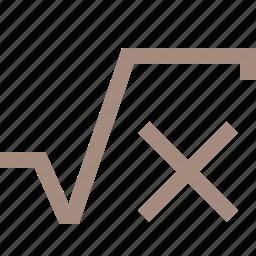 math, x icon