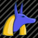 anubis, egypt, egyptian, god icon