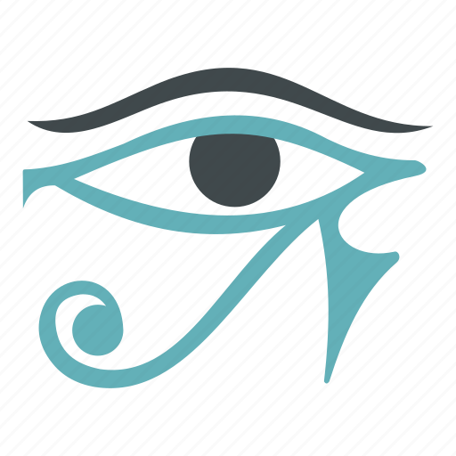 ancient, egypt, eye, hieroglyph, horus, ra, religion icon