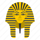 ancient, culture, egypt, egyptian, mask, pharaoh, tutankhamun icon