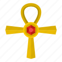 ancient, ankh, cross, egypt, egyptian, life, religion icon