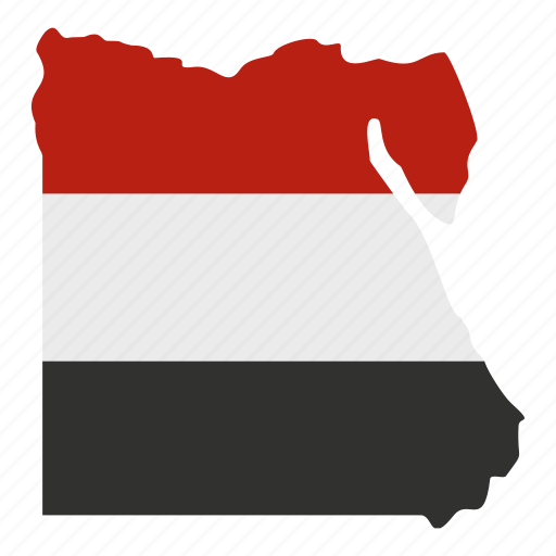 africa, blavk, country, egypt, flag, geography, map icon