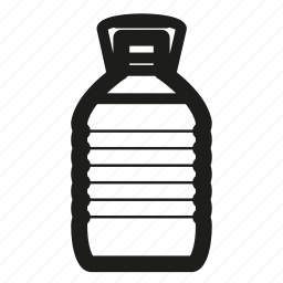 bottle, car, glass, washer icon