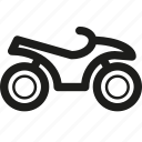 atv, quadracycle, quadricycle, quadrocycle icon