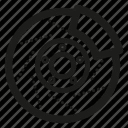 brake, car, disc, part icon