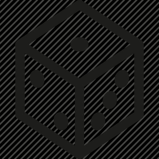 board, dice, game icon