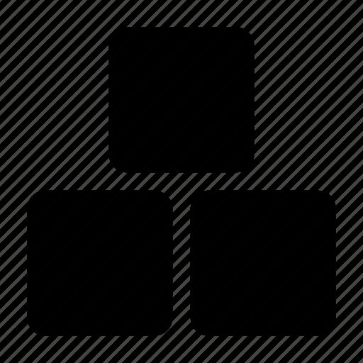 blocks, cubic icon