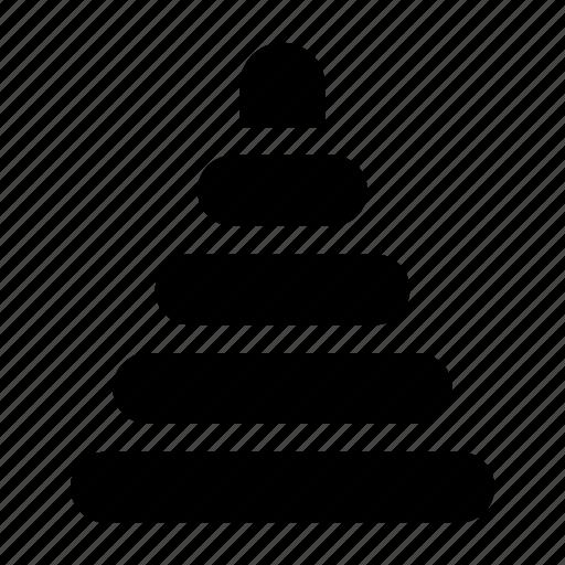 baby, pyramid icon