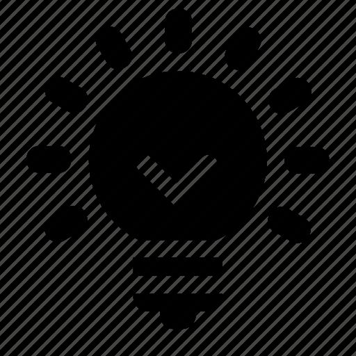Lamp, idea, active icon