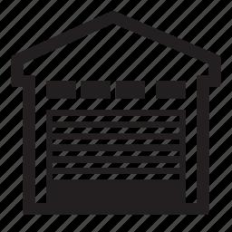 garage, hangar icon