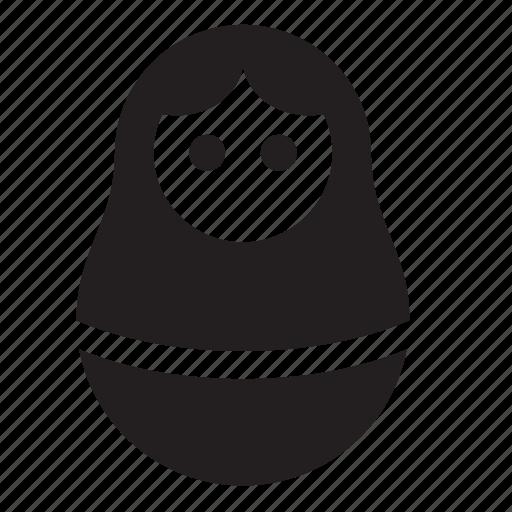 female, matreshka icon