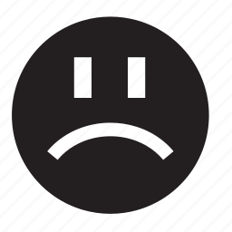 disappointment, smile icon