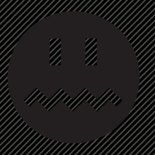 fright, smile icon