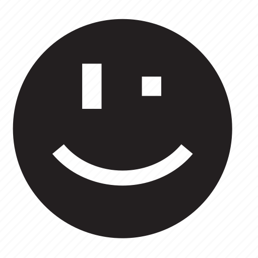 smile, wink icon