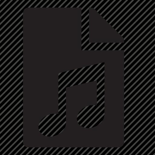 audio, document icon