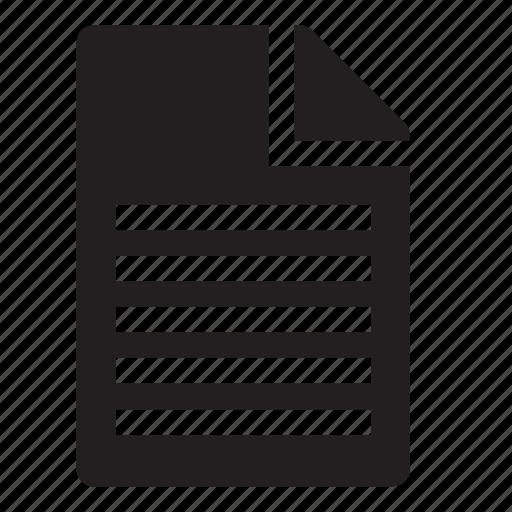 document, text icon