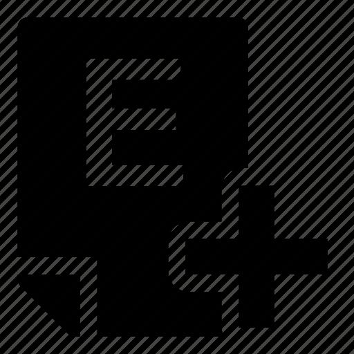 e+, mark icon