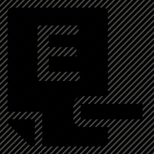 e-, mark icon