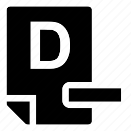 d-, mark icon