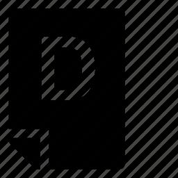 d, mark icon
