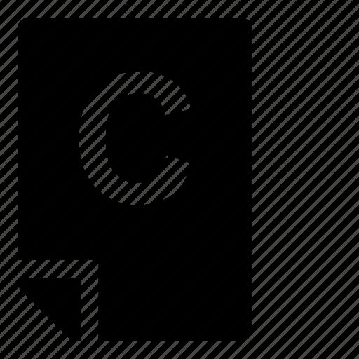 c, mark icon