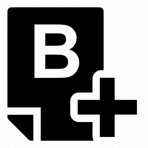b+, mark icon
