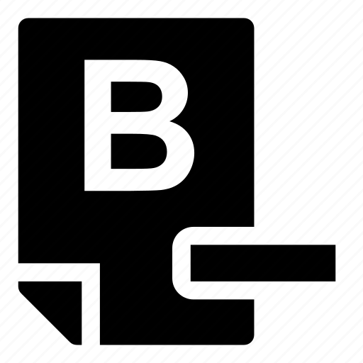 b-, mark icon