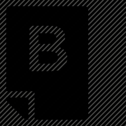 b, mark icon