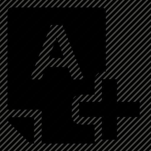 a+, mark icon